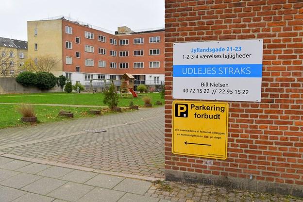 Drabet fandt sted her i Jyllandsgade. Foto: Jesper Thomasen