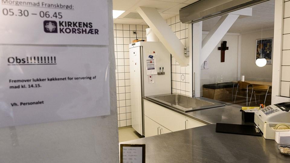 I løbet af de sidste to år har Kirkens Korshærs varmestue i Søndergade oplevet en stigning i antallet af brugere på 40 procent. Arkivfoto: Peter Broen