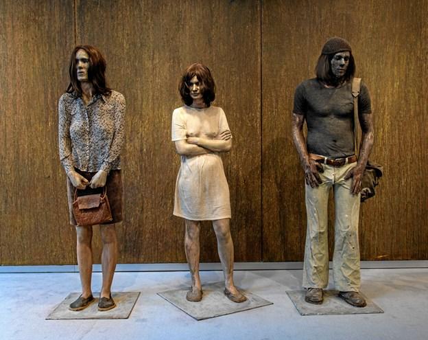 Kurt Trampedachs kendte skulptur Stoppestedet. Privatfoto