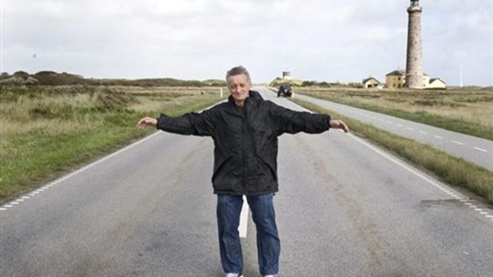 Da Jeppe Nielsen Kyk som grøn og usikker byrådskandidat foreslog, at der skulle sættes en bom op på Grenen ved Skagen, og at turister skulle betale 10 kroner for at se Danmarks yderste spids, fik han i den grad enden på komedie. Foto: Carl Th. Poulse