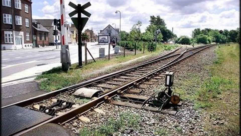 jernbaneoverskæringen ved Thistedvej har tre gange på fire dage svigtet. Bommene bliver oppe. Arkivfoto: Torben Hansen