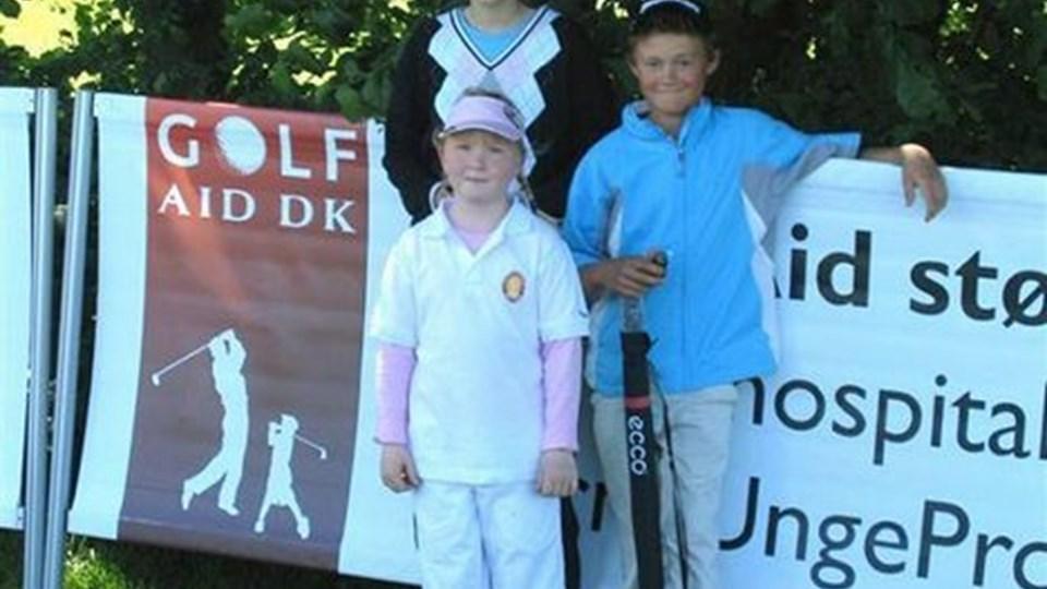 Puk Thomsen (forrest), Anna Bjerregaard og Daniel Hollen Nielsen har kvalificeret sig til finalen i Kids Cup.