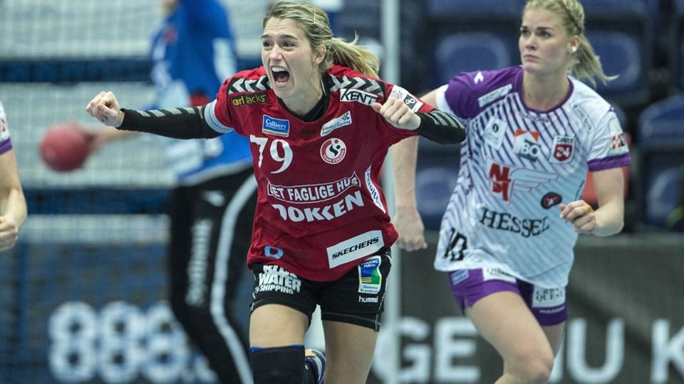 Estavana Polman er i gang med en fin sæson i Team Esbjerg og er nummer to på topscorerlisten i kvindernes håndboldliga. (arkivfoto).