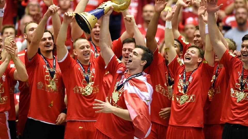 Vild jubel efter VM-sejren. Foto: Ritzau Scanpix