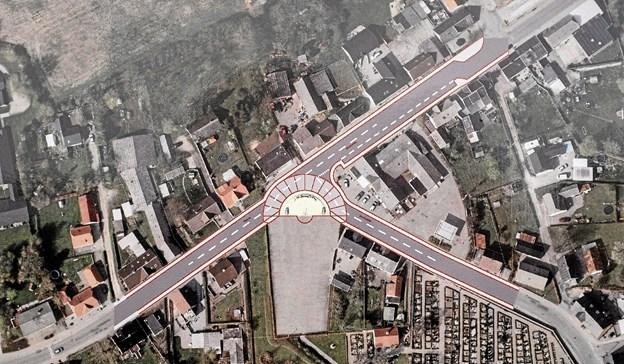 Illustration af Soltorvet set fra oven med omkringliggende veje. Foto: Niels Helver Niels Helver