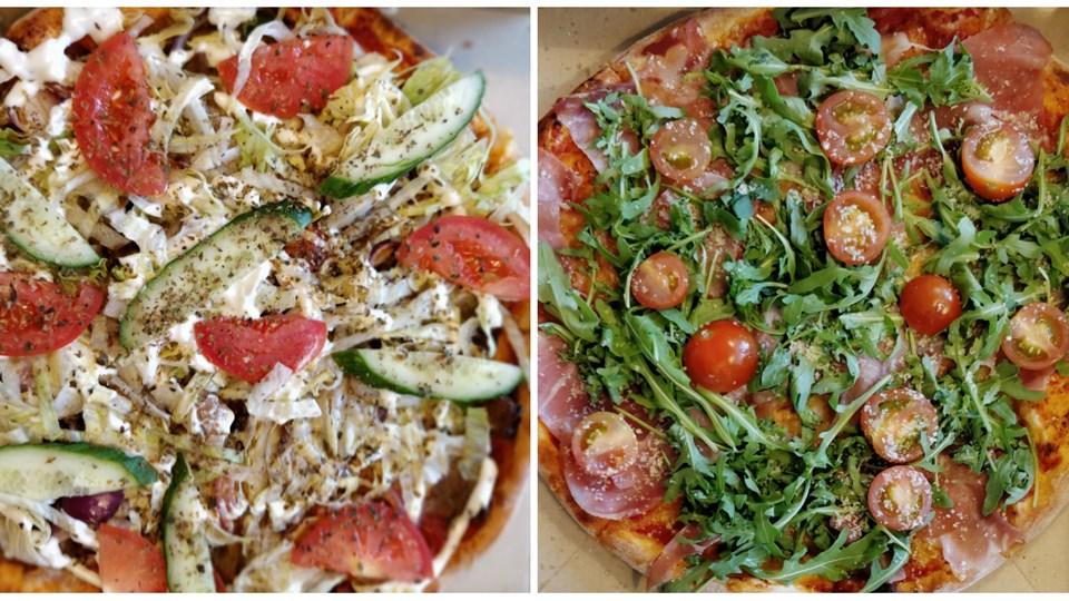Dagens menu: En dansk- og italiensk inspireret salatpizza. Foto: Jacob Andersen