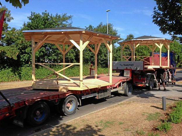 Transporten stod Tømmergaarden for.Foto: Kasper Mølbæk
