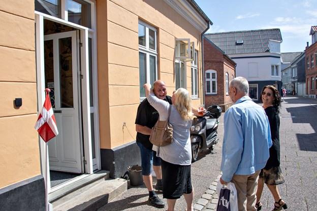 Cafe Børsen i Thisted holdt officiel reception.Foto: Kurt Bering