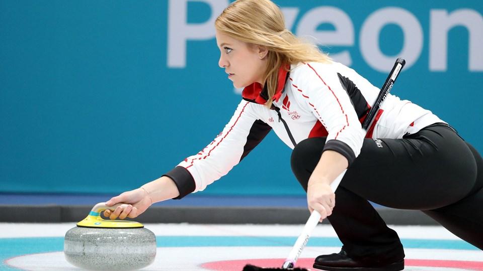Madeleine Dupont og det danske hold sluttede vinter-OL af med et nederlag på 3-9 til Sydkorea. Foto: Reuters/Lucy Nicholson