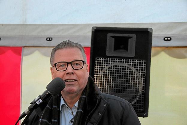 Borgmester i Struer Kommune, Niels Viggo Lynghøj (S) var den første taler. Foto: Hans B. Henriksen Hans B. Henriksen