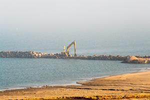 Godt det aldrig blev vinter: Hanstholm Havn har fuld fart på udvidelse