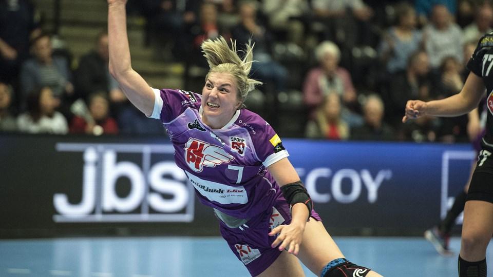 Linn Blohm har spillet sin sidste kamp for FC Midtjylland. Fra næste sæson skal hun spille for København Håndbold. Foto: Scanpix/Henning Bagger