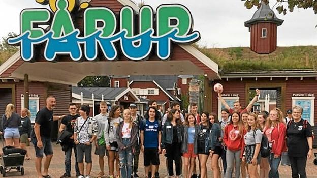 De unge deltagere nåede også at besøge Faarup Sommerland. Det var en stor succes.Privatfoto Privatfoto