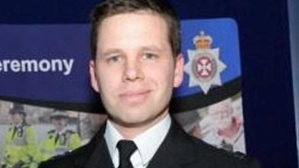 Nick Bailey fra Wiltshires Politi er blevet udskrevet. Han var en af tre, der blev indlagt efter at være udsat for nervegiften novichok. Foto: Reuters/Arkiv