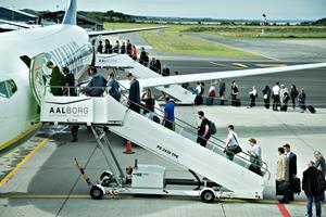 Udenrigs trækker fremgang i Aalborg Lufthavn