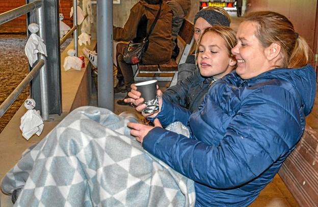Godt med et tæppe at varme sig på i den kolde opvisningshal. Foto: Mogens Lynge