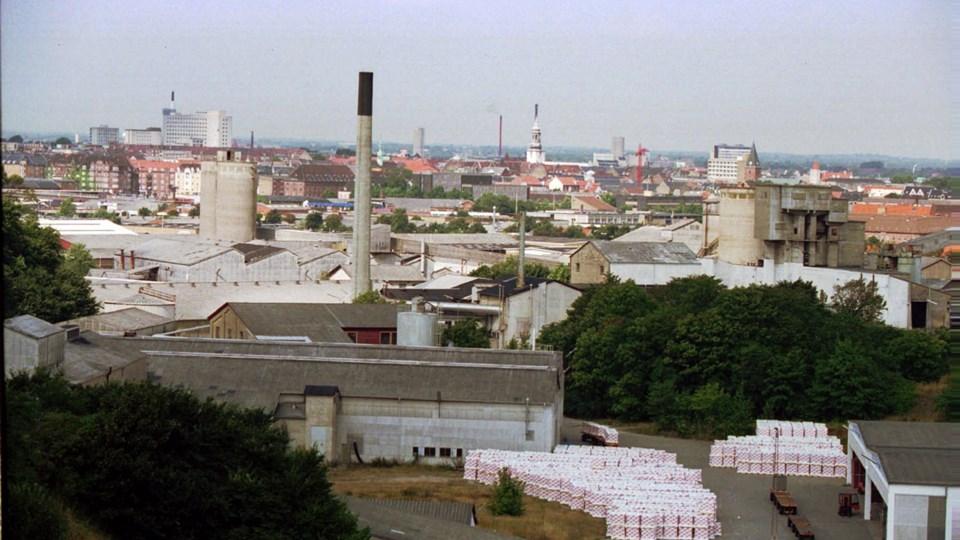 Dansk Eternit Fabrik i Aalborg, der her ses i 1994 inden dens lukning, brugte i årtier asbest i sin produktion. Arkivfoto: Henning Bagger/Ritzau Scanpix