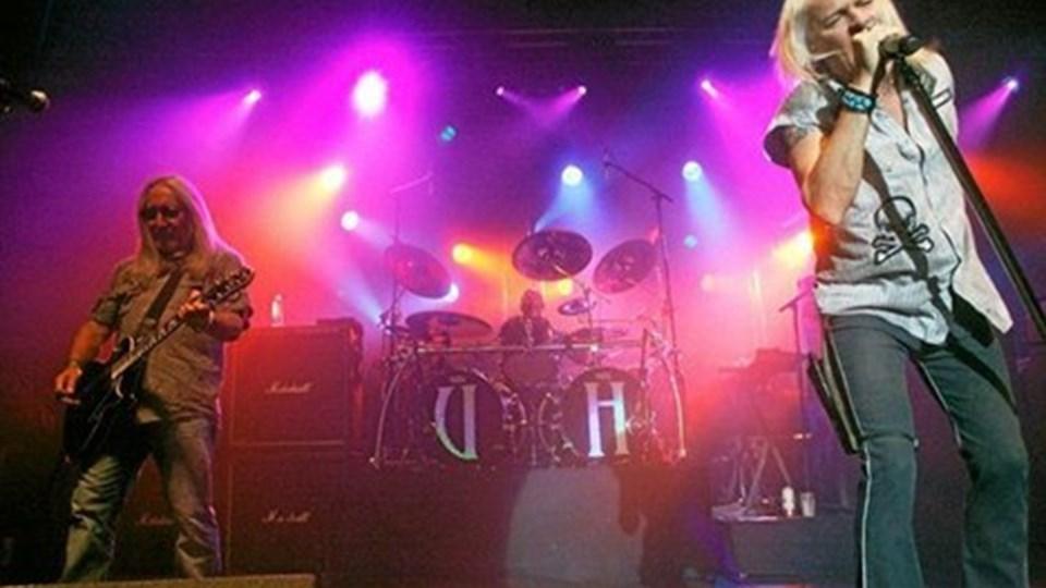 Koncert for fuld udblæsning, da Uriah Heep lørdag gav koncert på Vendelbohus. Foto: Henrik Abildgaard