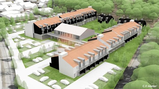 Illustration af hotelanlægsprojektet i Skagen - Skagen Resort.