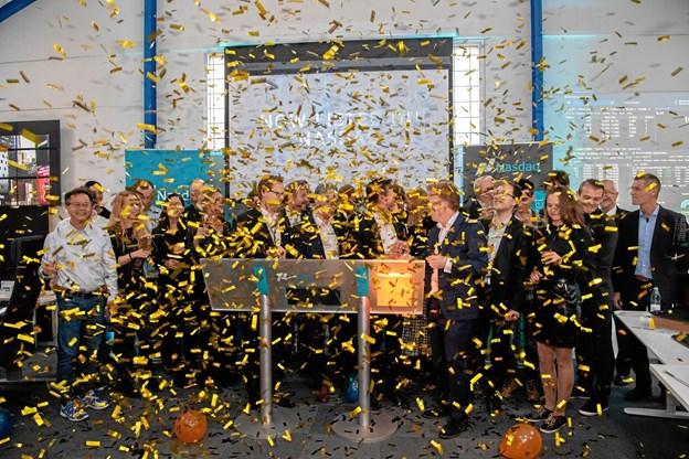 Jubel: Nordjyske børs-debutanter fik 26 millioner kroner i kassen