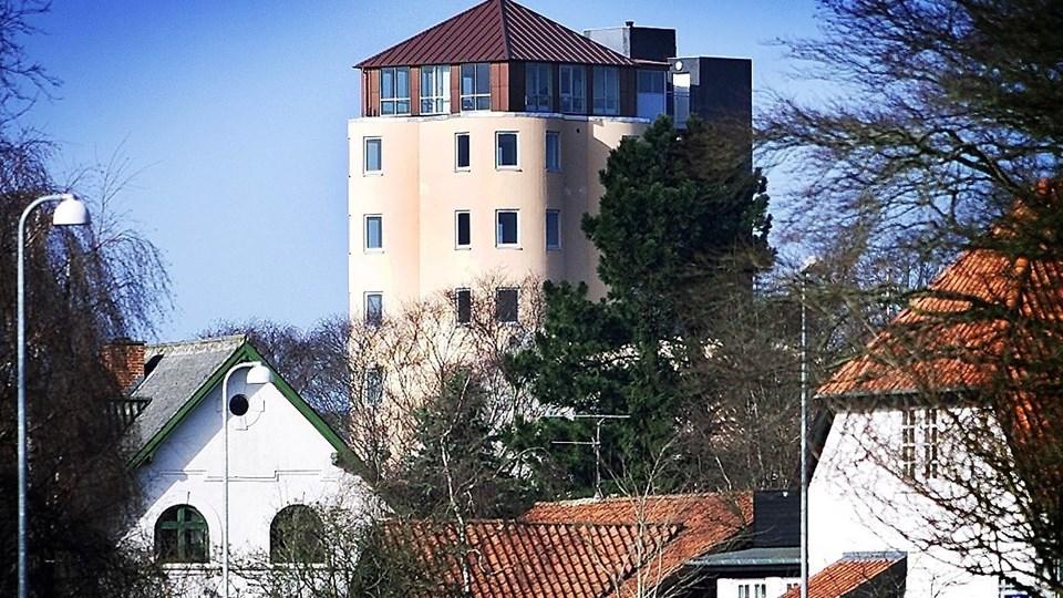 Hjørring Erhvervscenter holder til i siloen på Aastrupvej i Hjørring. Foto: Bent Bach