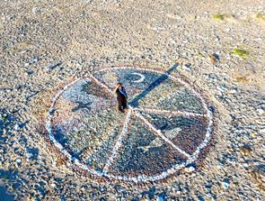 Drømmen om Ellidsbøl blev til et kunstværk om fred og kærlighed