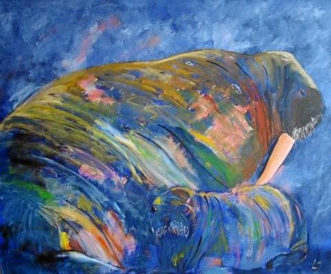 Lones Johannesssen maler farverige dyr med karakterfulde udtryk