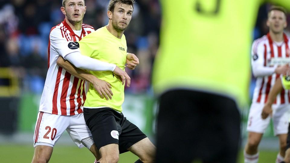 Henrik Dalsgaard var AaB's bedste mod FC Vestsjælland. Foto: Claus Søndberg