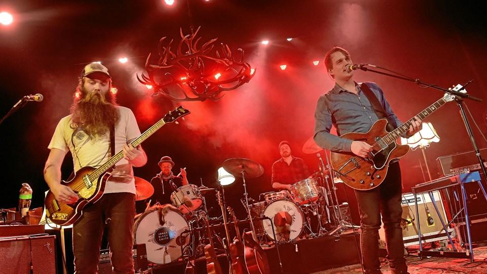 Thomas Alstrup (tv.) og bandet spiller også til Thy Rock til sommer - dog uden film. Foto: Ole Iversen