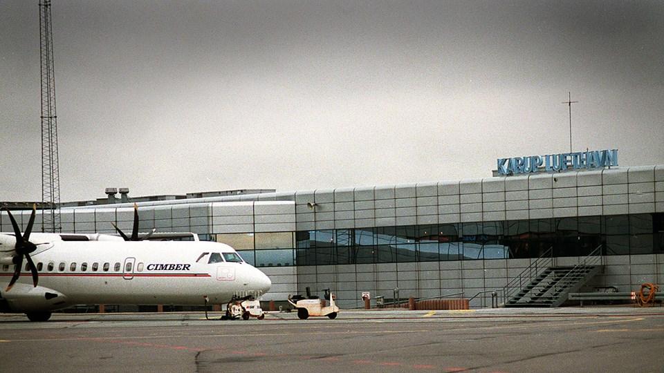 Tre jyske lufthavne er i fare for at lukke, når konkurencen fra toget bliver større. Arkivfoto.