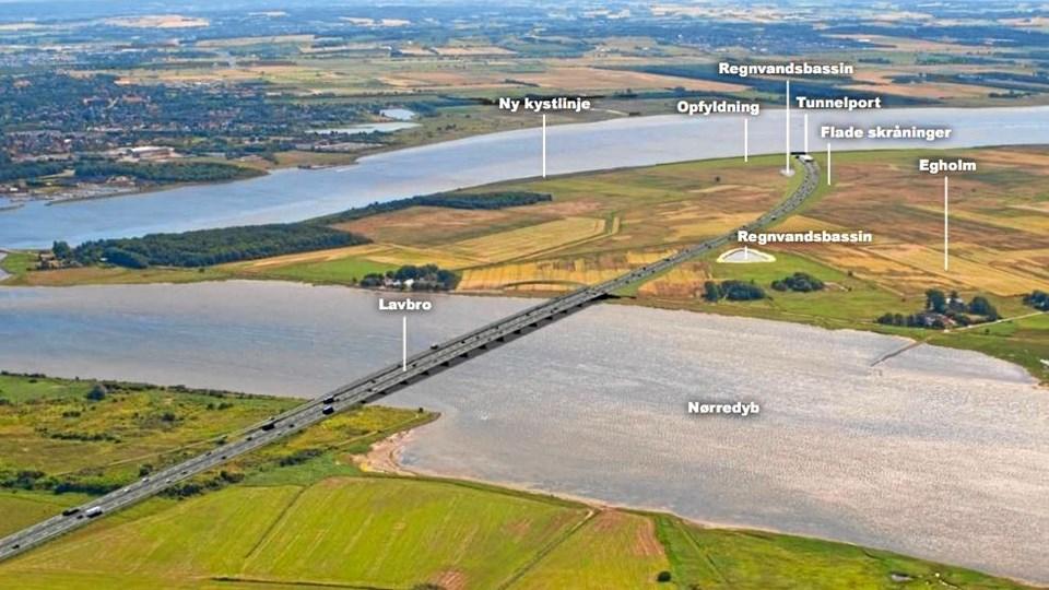 Linjeføringen for den 3. Limfjordsforbindelse blev ikke diskuteret på mødet. Kommunerne og regionen står fortsat bag Egholmforbindelsen.