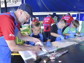 Fire tons fisk på tre dage – så er Hirtshals Fiskefestival klar
