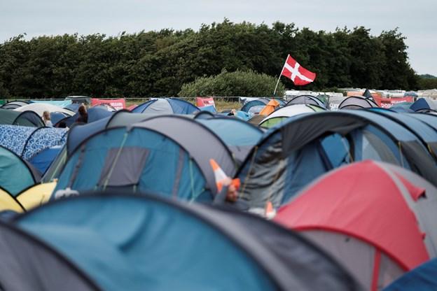 Med tusindvis af gæster til festival er vandforbruget ekstra højt i disse dage, det får nu Aalborg Forsyning til at opfordre til, man bruger vand med omtanke. Foto:   Lasse Sand
