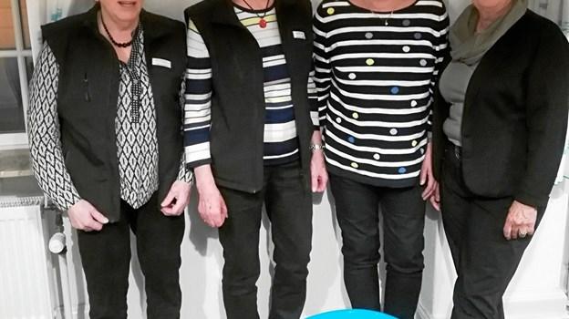 Kamillus har haft generalforsamling. Her deltog bla. Ulla Antonsen, som er afgående koordinator, Solveig Skovrider, formand, Anna Holm, ny koordinator og Inge Lyngsø. Privatfoto