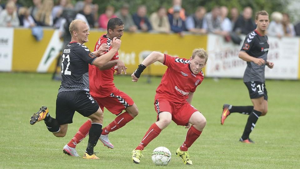 For tre år siden vandt AaB 5-1 på Lindholm Høje Stadion. Nu mødes holdene igen i pokalturneringen. Arkivfoto: Michael Bygballe