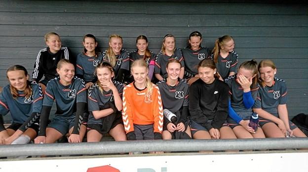 Pigerne fra Dronninglund Skole er også videre i DBU Skolepokalen. Privatfoto privatfoto