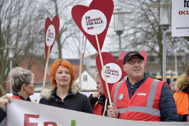 René Zimmer og Kathja Ryom, SL, opfordrede til en løsning for alle.  Foto: Bente Poder