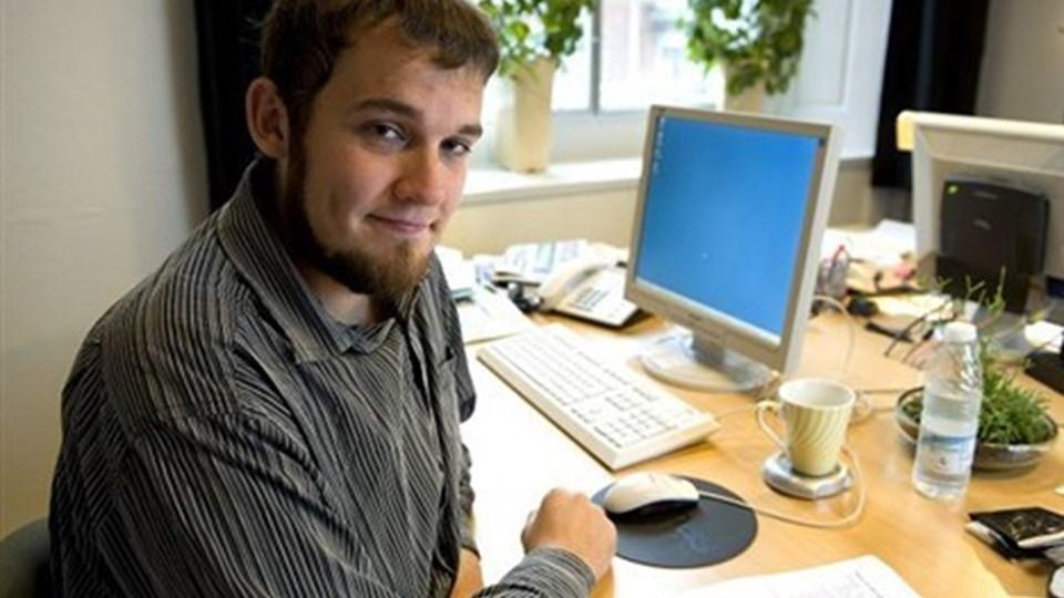 René Steen er i nogle måneder i praktik på erhvervs- og turistkontoret. Foto: Henrik Louis
