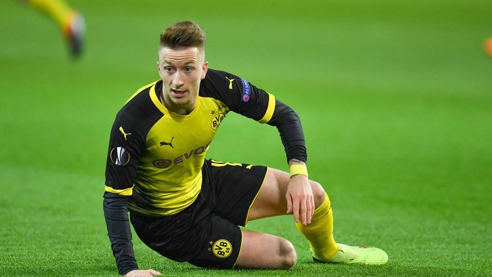 Marco Reus har papir på, at han er Borussia Dortmund-spiller frem til 2023. Foto: Scanpix/Patrik Stollarz