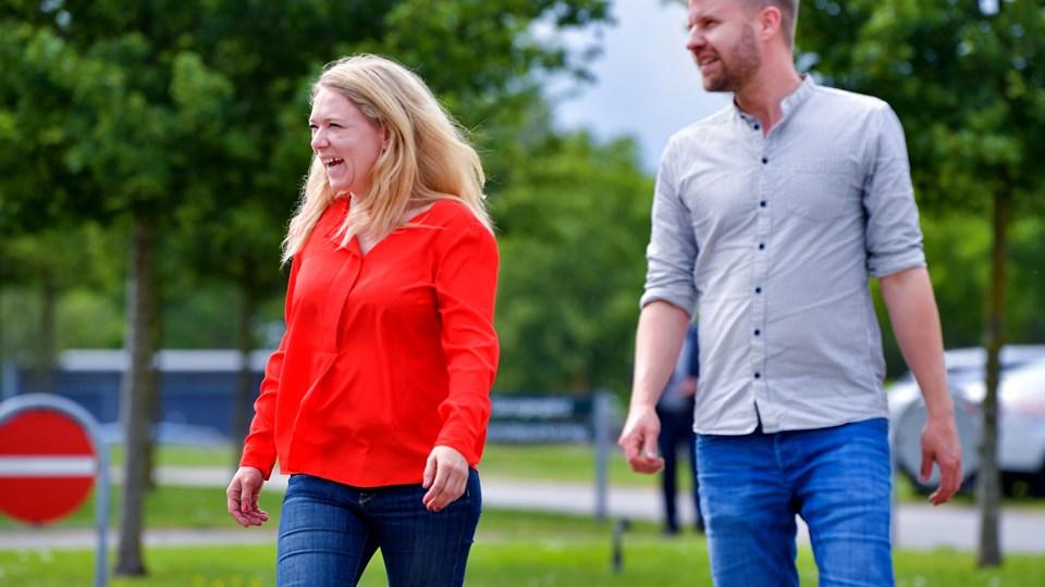 36-årige Lisbeth Bech Poulsen blev for nylig gift med kæresten Peter Christian Nielsen. Nu venter parret barn. Foto: Torben Hansen