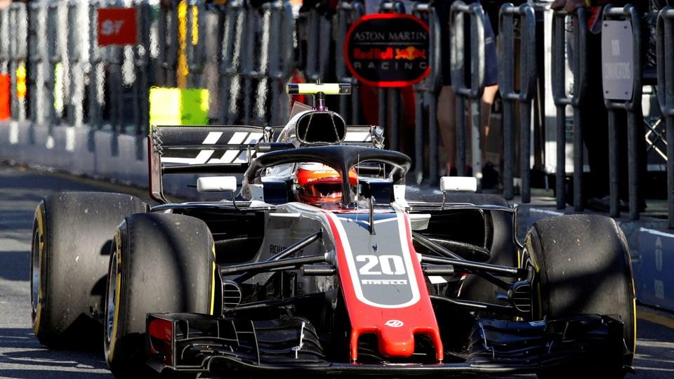 Kevin Magnussen skal prøve at leve op til Haas' forventninger om at ende i pointene på søndag i Australiens Grand Prix. Foto: Reuters/Brandon Malone
