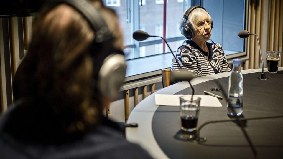 Lise Nørgaard besøger Radio24syv Foto: Scanpix/Torkil Adsersen