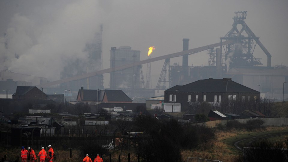 Corus steelworks is seen at Teesside, northern England Foto: Reuters/© Nigel Roddis / Reuters