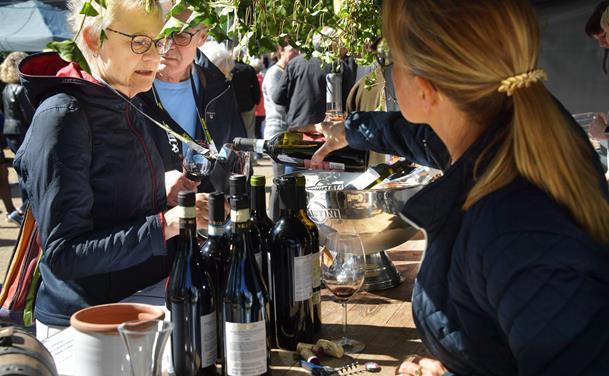 Mange folk til vinfestival