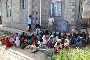 To millioner børn i Yemen er berøvet skolegang