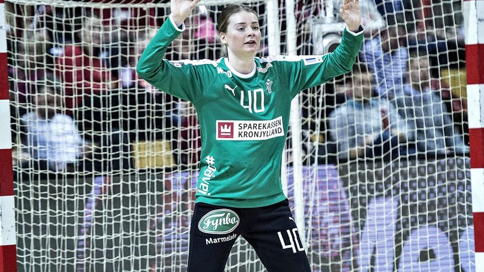 Althea Reinhardt holdt Island til seks scoringer i første halvleg mod Island. Foto: Henning Bagger/arkiv/Ritzau Scanpix