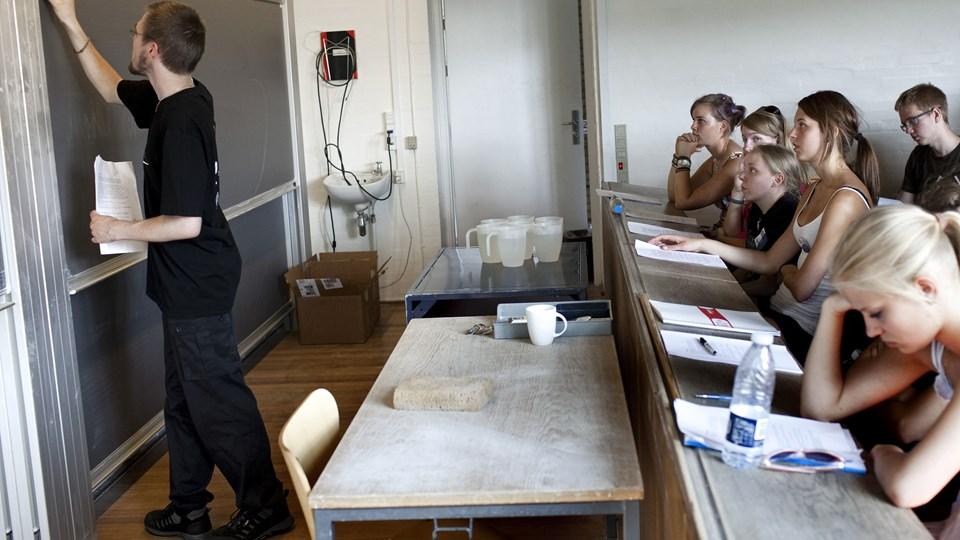 Venstre vil flytte kommunale 10. klasser til erhvervsskolerne. Danske Skoleelever mener, at forslaget er for snævert. Foto: Scanpix/Jens Nørgaard Larsen/arkiv