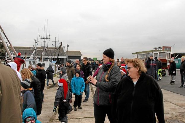 Når der sker noget på Jegindø er folk gode til at møde frem og det skete også i dette tilfælde. Foto: Hans B. Henriksen Hans B. Henriksen
