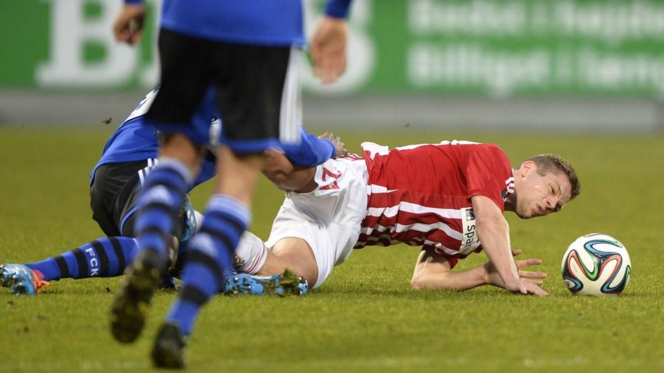 Kasper Risgård er skadet. Arkivfoto: Michael Koch