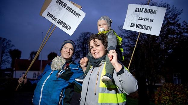 Forældre og børn i aktion for bedre daginstitutioner